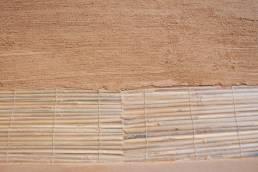 Texture terre et paille