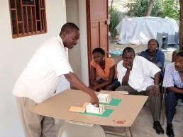 Réunion de bénéficiaires - Haïti